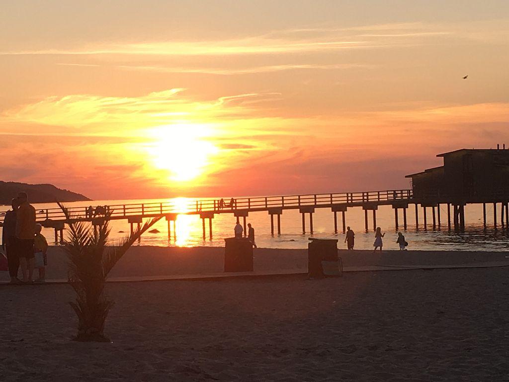 Sonnenuntergang am Strand in Bostad, Entspannung !